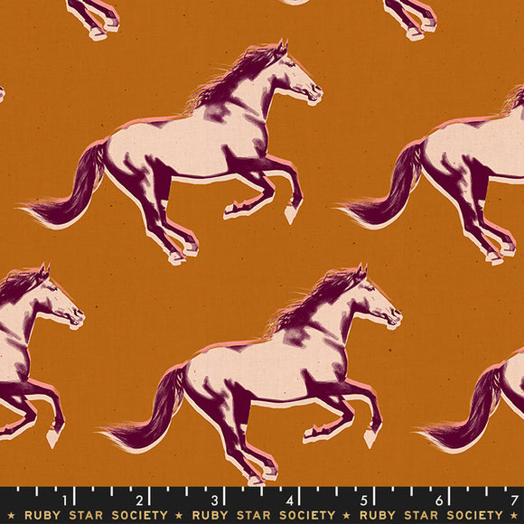RS5013 16 Darlings Mustang in Saddle by Melody Miller for Ruby Star Society from Pink Castle Fabrics