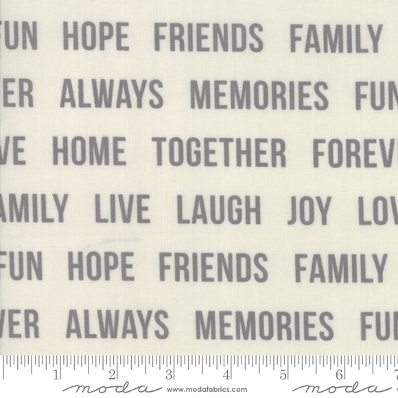 Urban Cottage Prints Words To Live By in Gray on Ivory
