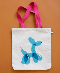 "Balloon Dog 15""x17"" Tote Bag by Rashida Coleman-Hale"