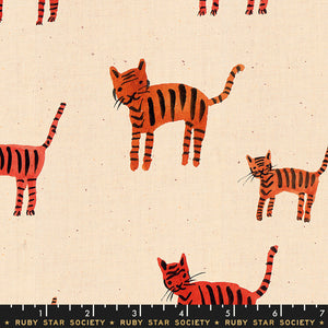 RS5021 11 Darlings Tiger Stripes in Orange by Alexia Marcelle Abegg for Ruby Star Society from Pink Castle Fabrics