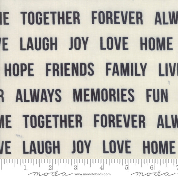 Urban Cottage Prints Words To Live By in Black on Ivory