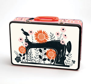 "Sewing Machine 12""x8""x3¾"" Lunchbox by Sarah Watts"