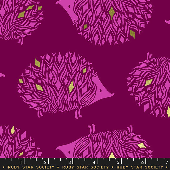 RS5017 11M Darlings Pickles Metallic in Purple Velvet by Sarah Watts for Ruby Star Society from Pink Castle Fabrics