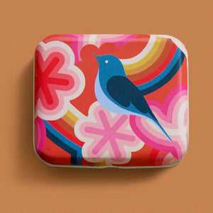 "Morning Bird 3""x2½"" Tin by Melody Miller"