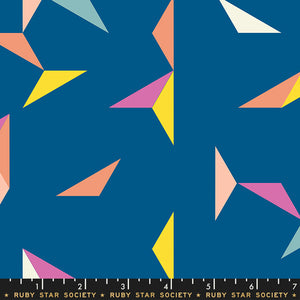RS5015 15 Darlings Tangrams in Blue Raspberry by Rashida Coleman-Hale for Ruby Star Society from Pink Castle Fabrics