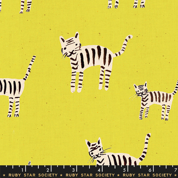 RS5021 18 Darlings Tiger Stripes in Citron by Alexia Marcelle Abegg for Ruby Star Society from Pink Castle Fabrics