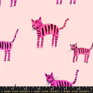 RS5021 12 Darlings Tiger Stripes in Hot Pink by Alexia Marcelle Abegg for Ruby Star Society from Pink Castle Fabrics