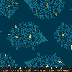 RS5017 12M Darlings Pickles Metallic in Dark Teal by Sarah Watts for Ruby Star Society from Pink Castle Fabrics