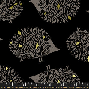 RS5017 13M Darlings Pickles Metallic in Black by Sarah Watts for Ruby Star Society from Pink Castle Fabrics