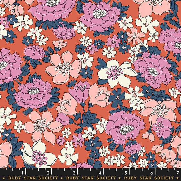 RS3007 15LW Lindley Lawns Lindley in Persimmon by Kimberly Kight for Ruby Star Society from Pink Castle Fabrics