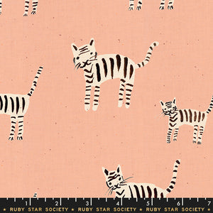 RS5021 16 Darlings Tiger Stripes in Warm Pink by Alexia Marcelle Abegg for Ruby Star Society from Pink Castle Fabrics