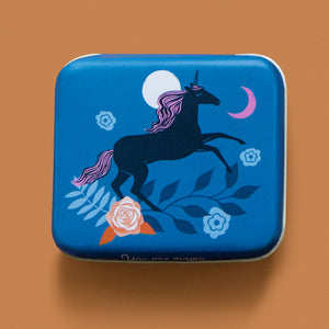 "Unicorn 3""x2½"" Tin by Sarah Watts"