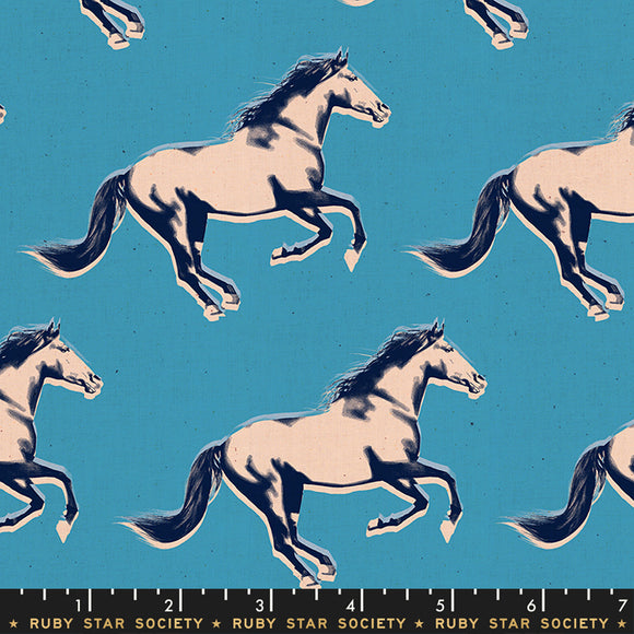 RS5013 18 Darlings Mustang in Vintage Blue by Melody Miller for Ruby Star Society from Pink Castle Fabrics