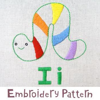 Inchworm Embroidery - PDF Accessory Pattern
