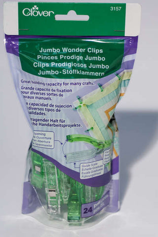 Jumbo Wonder Clips - 24 Pack