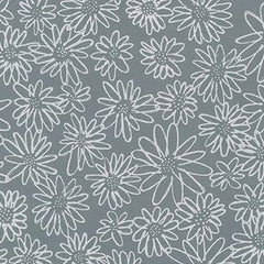 Blueberry Park Scruffy Daisy in Titanium from Blueberry Park by Karen Lewis for Robert Kaufman