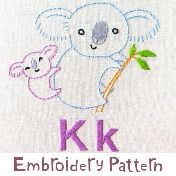 Koala Embroidery - PDF Accessory Pattern