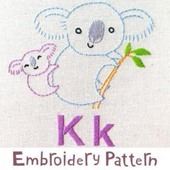 Koala Embroidery - PDF Accessory Pattern by Penguin and Fish