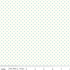 Le Creme Swiss Dot in Aqua from Swiss Dot by Riley Blake House Designers  for Riley Blake