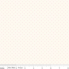 Le Creme Swiss Dot in Baby Pink from Swiss Dot by Riley Blake House Designers  for Riley Blake