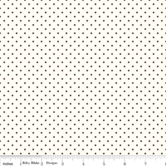 Le Creme Swiss Dot in Brown from Knock on Wood by Riley Blake House Designers  for Riley Blake