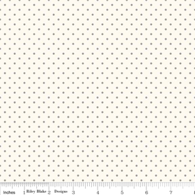 Le Creme Swiss Dots in Gray
