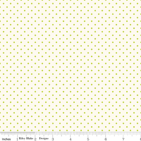 Le Creme Swiss Dot in Lime