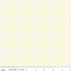 Le Creme Swiss Dot in Lime from Swiss Dot by Riley Blake House Designers  for Riley Blake