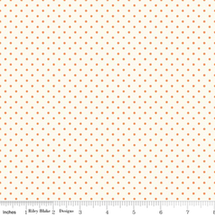 Le Creme Swiss Dot in Orange from Swiss Dot by Riley Blake House Designers  for Riley Blake