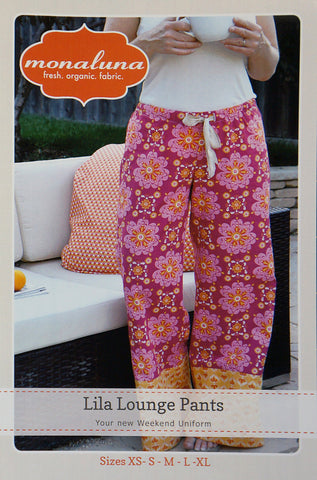 Lila Lounge Pants - Printed Apparel Pattern