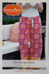 Lila Lounge Pants - Printed Apparel Pattern by Monaluna Designs