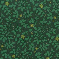 Christmas Brambleberry in Evergreen from Christmas at Brambleberry Ridge by Violet Craft for Michael Miller