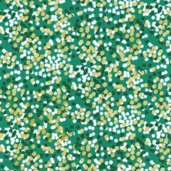Christmas Shimmer Reflection in Green from Christmas at Brambleberry Ridge by Violet Craft for Michael Miller