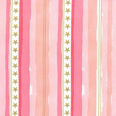 Magic Stars and Stripes in Pink Metallic from Magic by Sarah Jane for Michael Miller