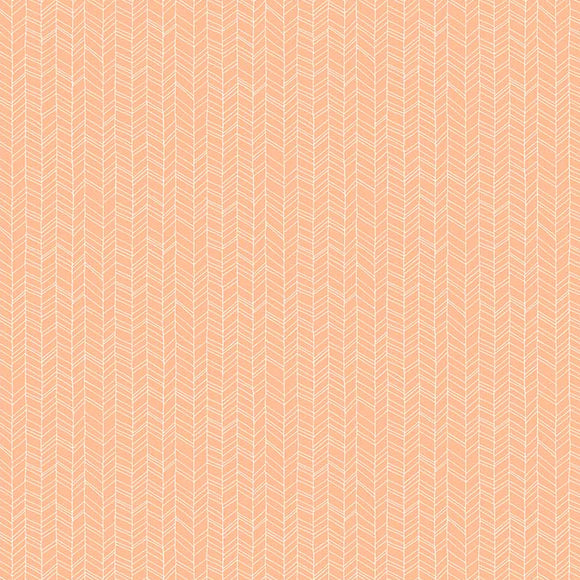 Mountain Meadow Herringbone in Peach