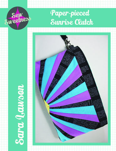 Paper Pieced Sunrise Clutch - PDF Accessory Pattern