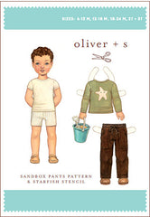 Sandbox Pants Pattern & Starfish Stencil - Sizes: 4, 5, 6, 7, + 8 by Oliver + S