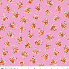 Milk Floral in Pink from Milk Sugar & Flower by Elea Lutz for Penny Rose Fabrics