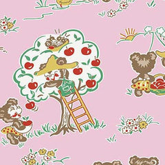 Apple Farm Main in Pink from Apple Farm by Elea Lutz for Penny Rose Fabrics