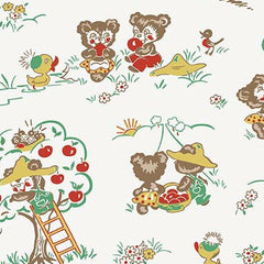 Apple Farm Main in White from Apple Farm by Elea Lutz for Penny Rose Fabrics