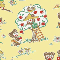 Apple Farm Main in Yellow from Apple Farm by Elea Lutz for Penny Rose Fabrics