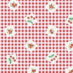 Apple Farm Picnic in Red from Apple Farm by Elea Lutz for Penny Rose Fabrics