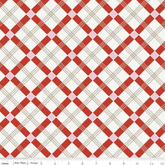 Apple Farm Plaid in Red from Apple Farm by Elea Lutz for Penny Rose Fabrics