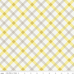 Apple Farm Plaid in Yellow from Apple Farm by Elea Lutz for Penny Rose Fabrics