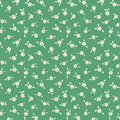Apple Farm Blossom in Green from Apple Farm by Elea Lutz for Penny Rose Fabrics