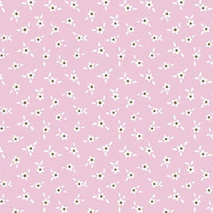 Apple Farm Blossom in Pink from Apple Farm by Elea Lutz for Penny Rose Fabrics