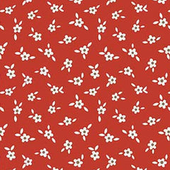 Apple Farm Blossom in Red from Apple Farm by Elea Lutz for Penny Rose Fabrics