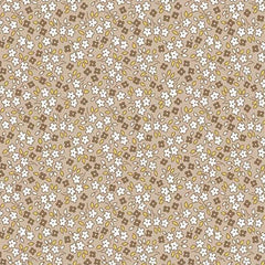 Apple Farm Daisy in Brown from Apple Farm by Elea Lutz for Penny Rose Fabrics