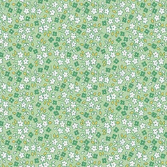 Apple Farm Daisy in Green from Apple Farm by Elea Lutz for Penny Rose Fabrics