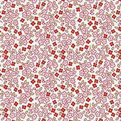 Apple Farm Daisy in white from Apple Farm by Elea Lutz for Penny Rose Fabrics